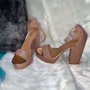 Sparkle Heels - Glitter Rose Gold